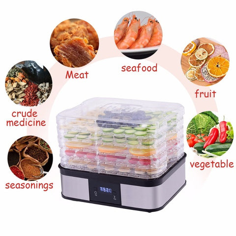 Image of Digital 5 Tray Fruit Dehydrator & Preserver