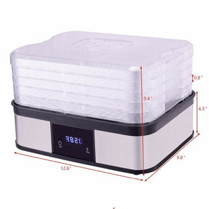 Digital 5 Tray Fruit Dehydrator & Preserver