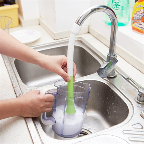 Water-Saving Faucet Filter with Brush - Shop your favorite Kitchen Gadgets from www.AllVeganWorld.com | All Vegan World | +1-855-YA-VEGAN