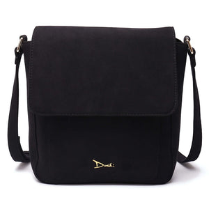 Doshi Vegan-Leather Portrait Suede Bag