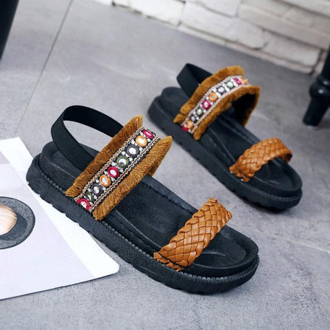 Image of Women's Ethnic-Style Hemp Vegan Sandals