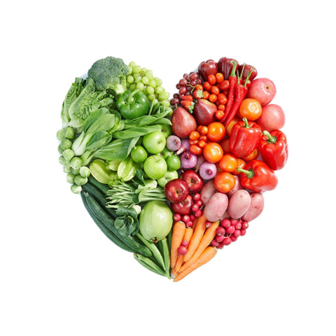 Image of 3D Vegetable Fruit Heart Wall Sticker