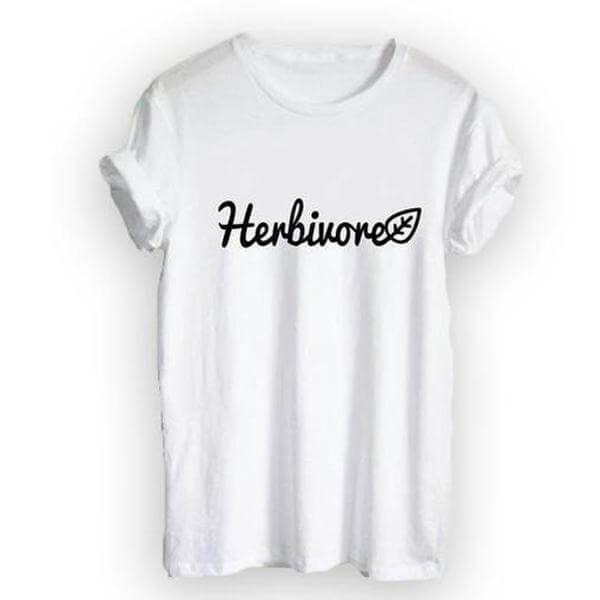 'Herbivore' Ladies Tshirt - Shop your favorite Cruelty-Free Fashion from www.AllVeganWorld.com | All Vegan World | +1-855-YA-VEGAN