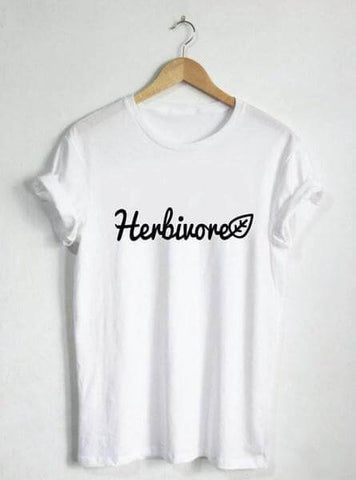Image of 'Herbivore' Ladies Tshirt - Shop your favorite Cruelty-Free Fashion from www.AllVeganWorld.com | All Vegan World | +1-855-YA-VEGAN