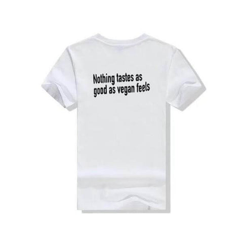 'Nothing tastes as good as vegan feels' Unisex Tshirt (3 colors) - Shop your favorite Cruelty-Free Fashion from www.AllVeganWorld.com | All Vegan World | +1-855-YA-VEGAN