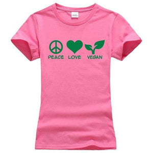 'PEACE LOVE VEGAN' Ladies Tshirt (3 colors)