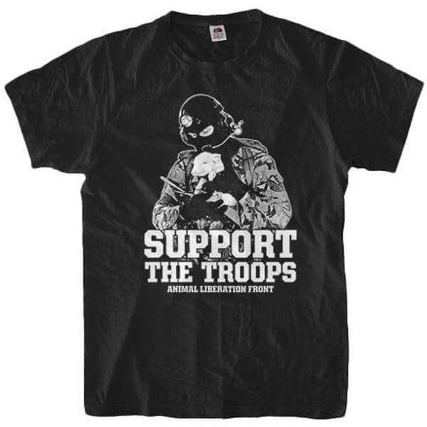 'Support The Troops ALF' Unisex Tshirt - Shop your favorite Cruelty-Free Fashion from www.AllVeganWorld.com | All Vegan World | +1-855-YA-VEGAN