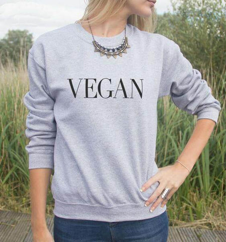 'Vegan' Unisex Sweatshirt (3 colors) - Shop your favorite Cruelty-Free Fashion from www.AllVeganWorld.com | All Vegan World | +1-855-YA-VEGAN