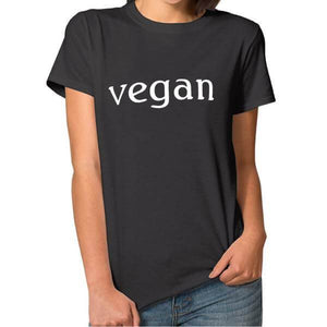 'vegan' Ladies Tshirt (2 colors)