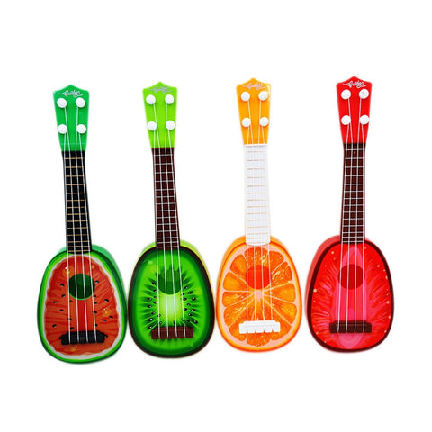 Image of Children's Fruit Ukulele (watermelon, kiwi, orange, strawberry)