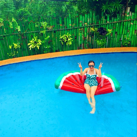 Image of Inflatable Watermelon Pool Lounge Toy