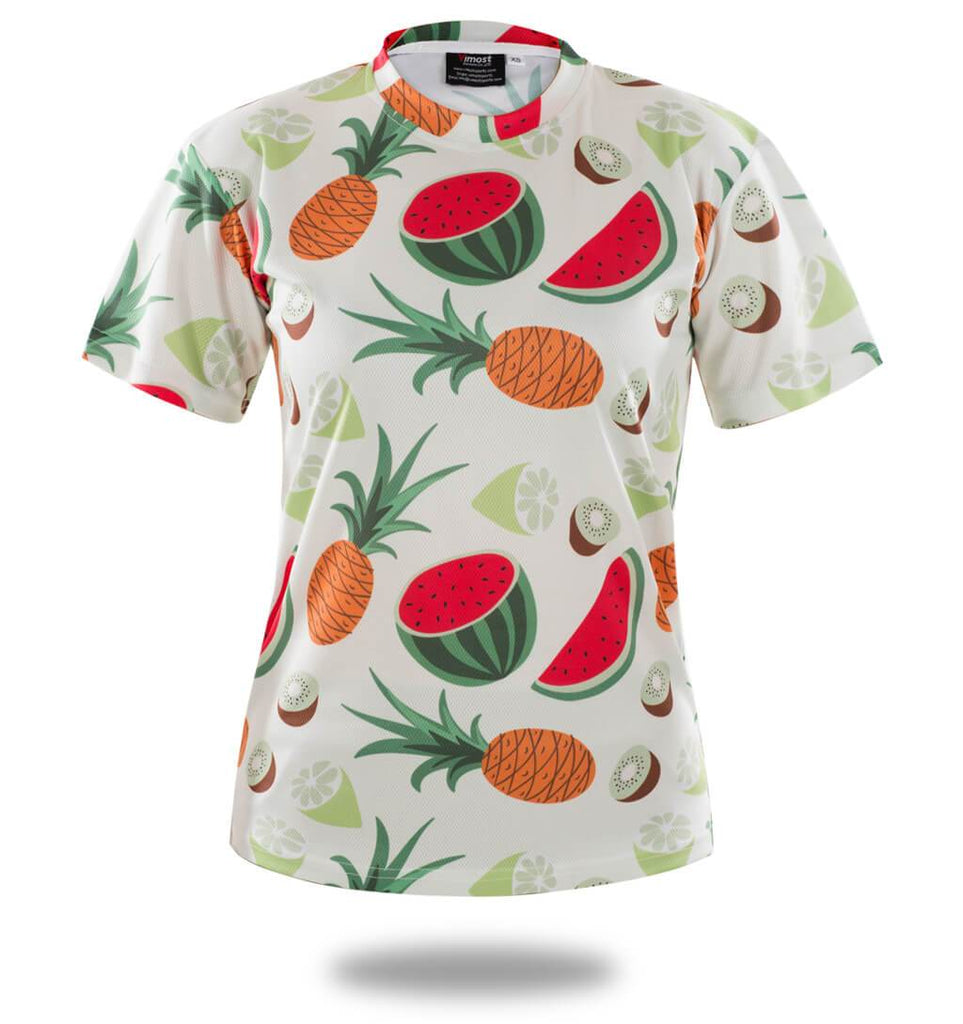 Sublimated Fruit Pattern T-shirt