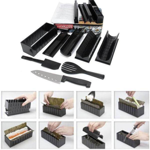12-piece Veggie-Sushi Maker Set - Shop your favorite Kitchen Gadgets from www.AllVeganWorld.com | All Vegan World | +1-855-YA-VEGAN