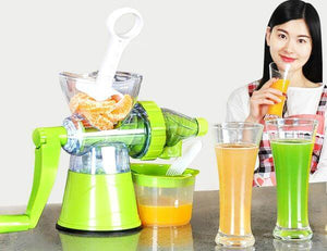 2-in-1 Portable Manual Juicer + Nice-Cream Maker