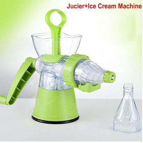 Image of 2-in-1 Portable Manual Juicer + Nice-Cream Maker - Shop your favorite Kitchen Gadgets from www.AllVeganWorld.com | All Vegan World | +1-855-YA-VEGAN