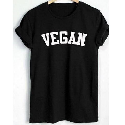 'VEGAN' Varsity-font Unisex Tshirt - Shop your favorite Cruelty-Free Fashion from www.AllVeganWorld.com | All Vegan World | +1-855-YA-VEGAN