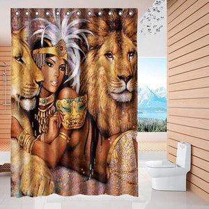 Eco-Friendly 'Gorgeous Lion Goddess' Shower Curtain