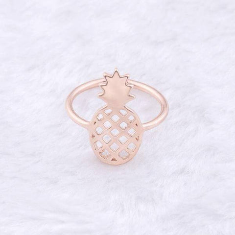Image of Gorgeous Pineapple Adjustable Unisex Ring (3 colors) - Shop your favorite Vegan Bling from www.AllVeganWorld.com | All Vegan World | +1-855-YA-VEGAN