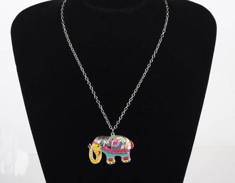 Image of Party Elephant Paisley Enamel Pendant Necklace (6 styles) - Shop your favorite Vegan Bling from www.AllVeganWorld.com | All Vegan World | +1-855-YA-VEGAN
