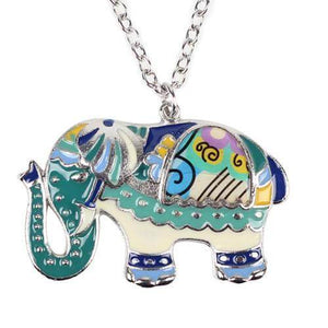 Party Elephant Paisley Enamel Pendant Necklace (6 styles)
