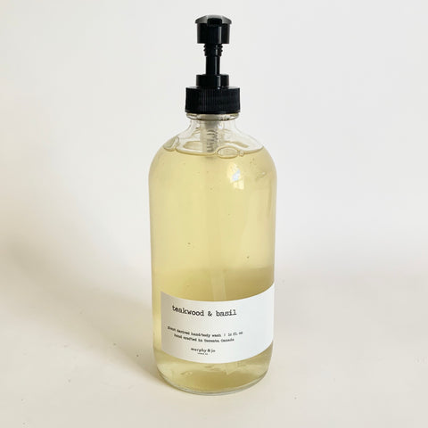 Handsoap 16oz. - Teakwood & Basil