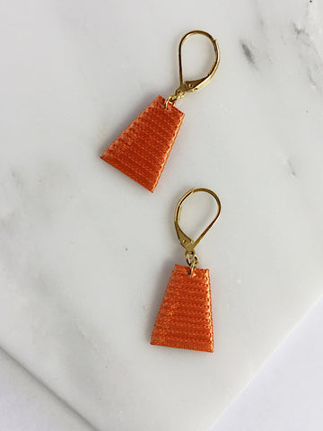 Mat Earrings- Orange