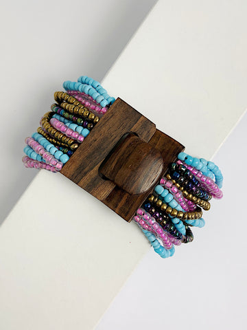 Bolenat Beaded Cuff Bracelet Thin