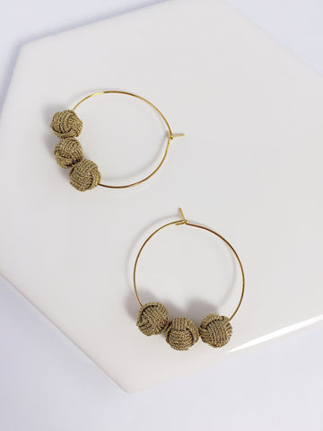 Musubidama Knot Hoop Earrings
