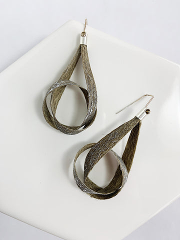 Linen Knot Earrings