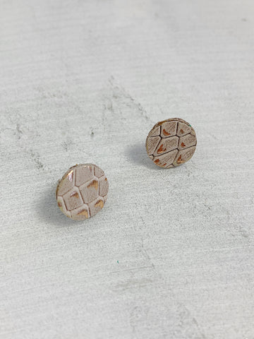 Leather Stud Earrings