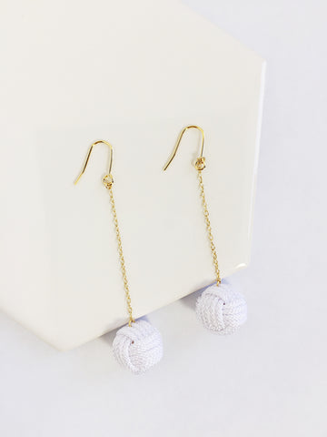 Musubidama Knot Drop Earrings