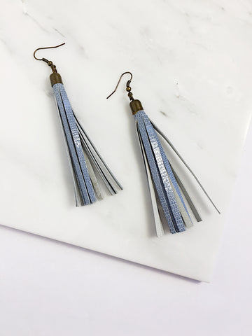 Flecos Leather Tassel Earrings