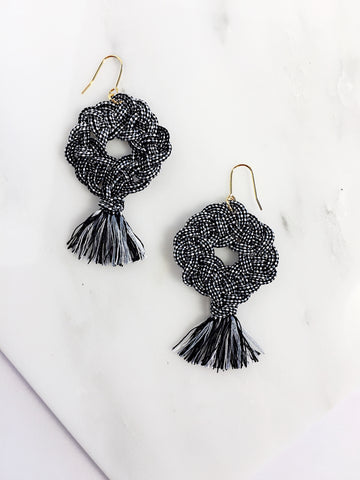 Kesa Knot Earrings with Tassel