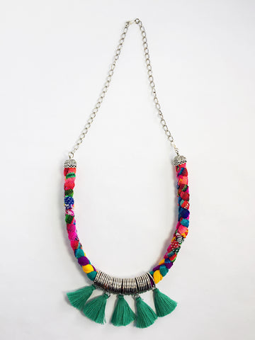 Aguayo Textile Tassel Necklace