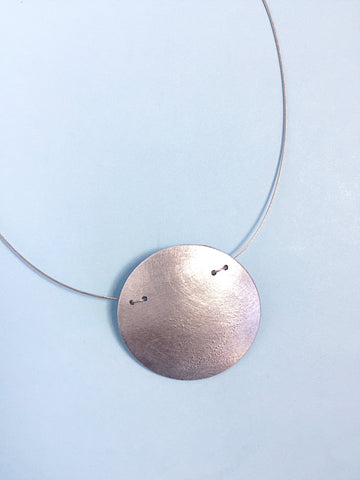 Aluminum Lunar Necklace