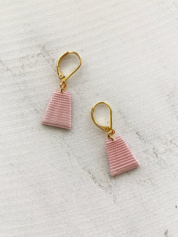 Mat Earrings- Rose
