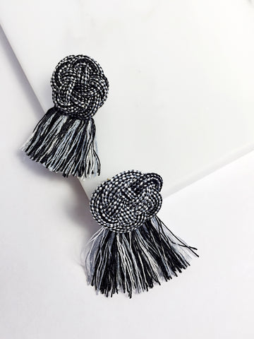 Ume Knot Earrings with Tassel
