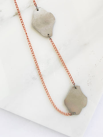Aluminum Kira Necklace
