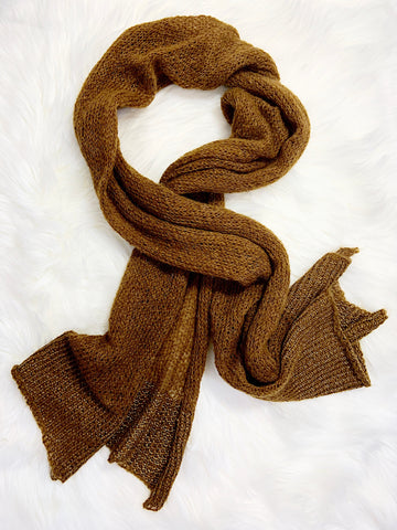 Mohair and Vegan Silk Travel Wrap Scarf