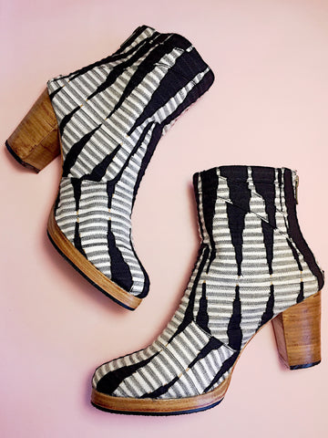 Textile Woven Fabric Boots