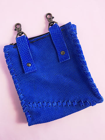 Handsfree Suede Leather Purse