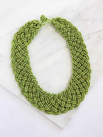 Beaded Lattice Necklace