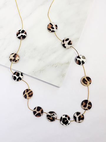 Nora Leather Disco Necklace