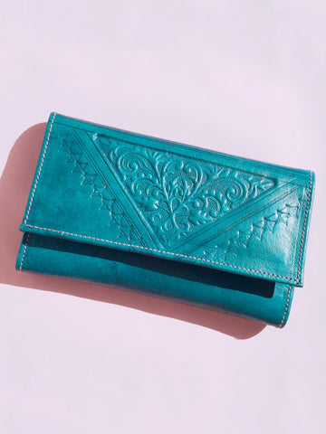 Stamped Leather Wallet