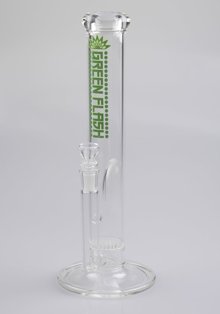 Green Flash Glass simple 44mm tube with 14mm female fixed stem and honeycomb diffusion disc.