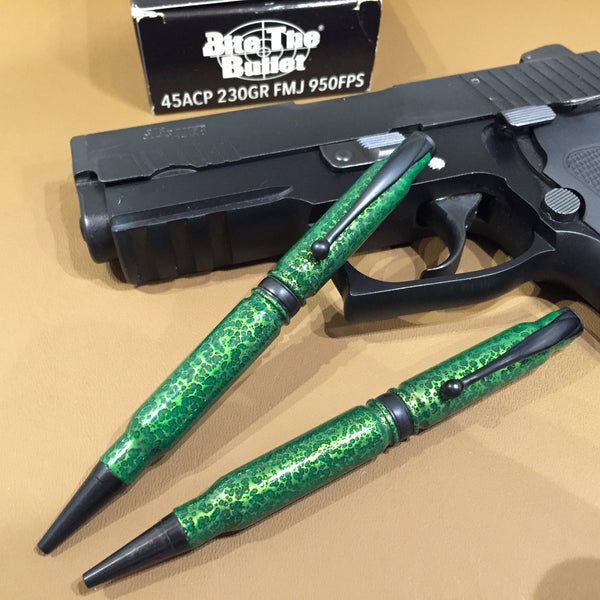 308 Green Vein Powder Coated Pen