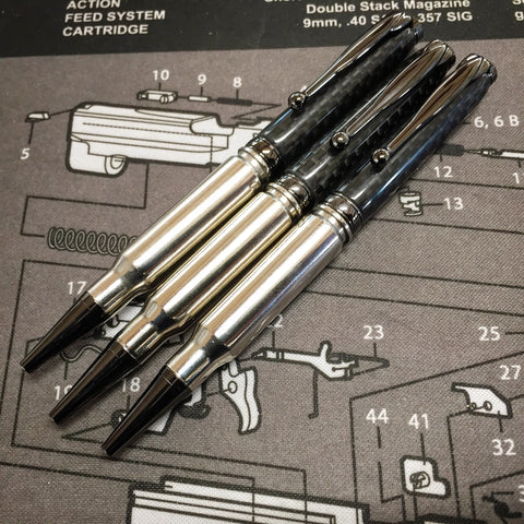 308 Nickel Pen with Carbon Fiber