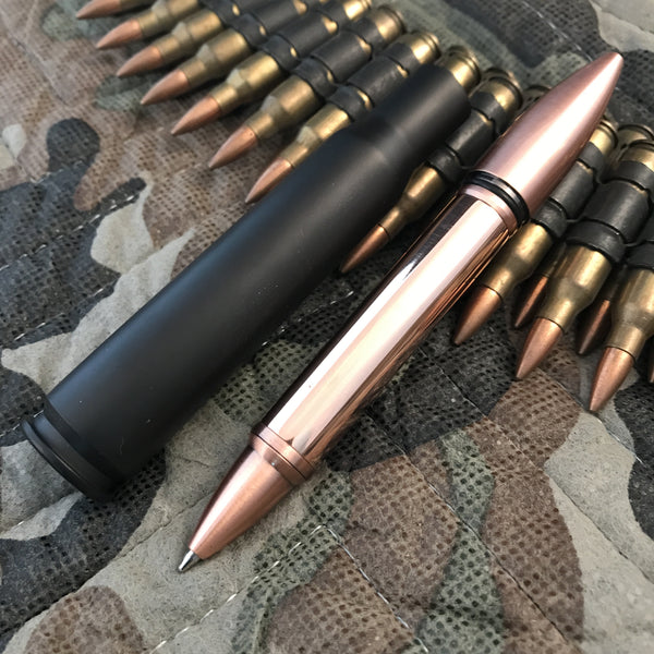50 Cal Copper, Brass or titanium Pen