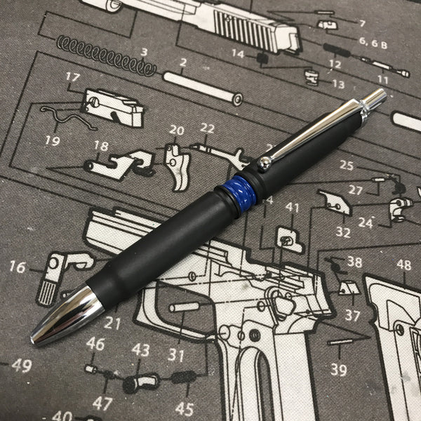 Thin Blue Line Click Bullet Pen
