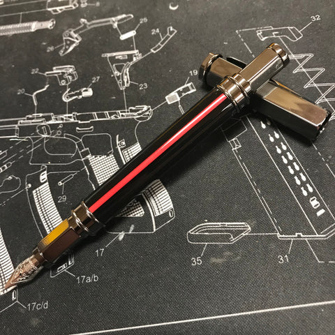 Thin Red Line Fountain Pen